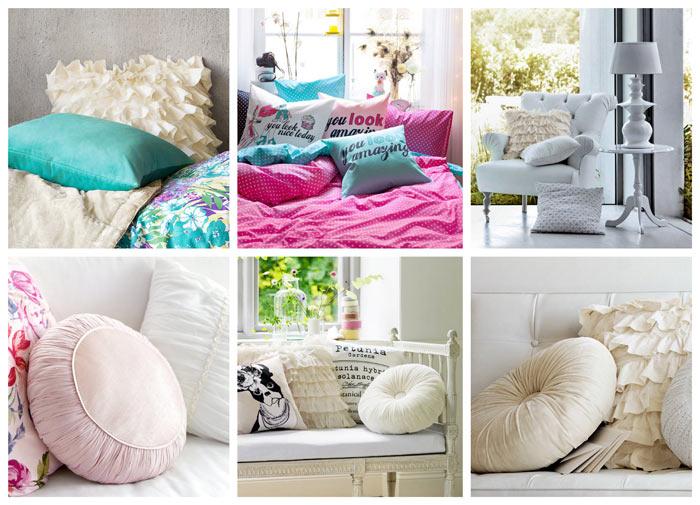 Модные диванные подушки