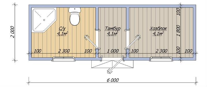 Душ туалет хозблок для дачи своими руками