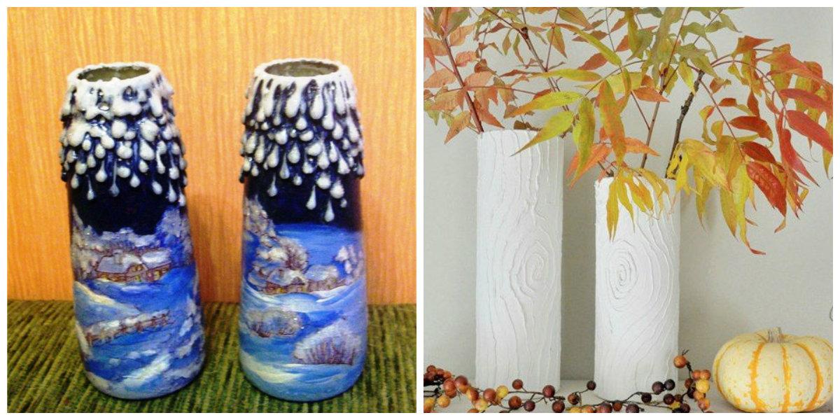 Как украсить вазу своими руками фото 6