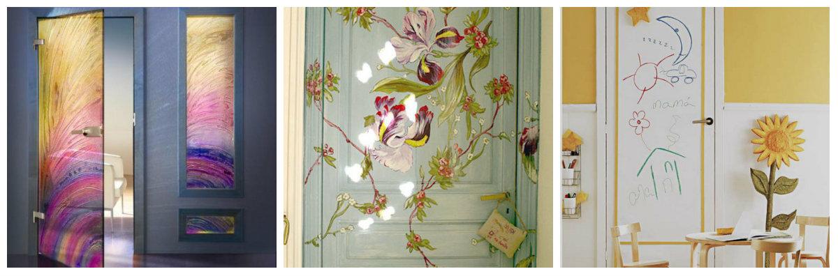 Как украсит дверь своими руками 254