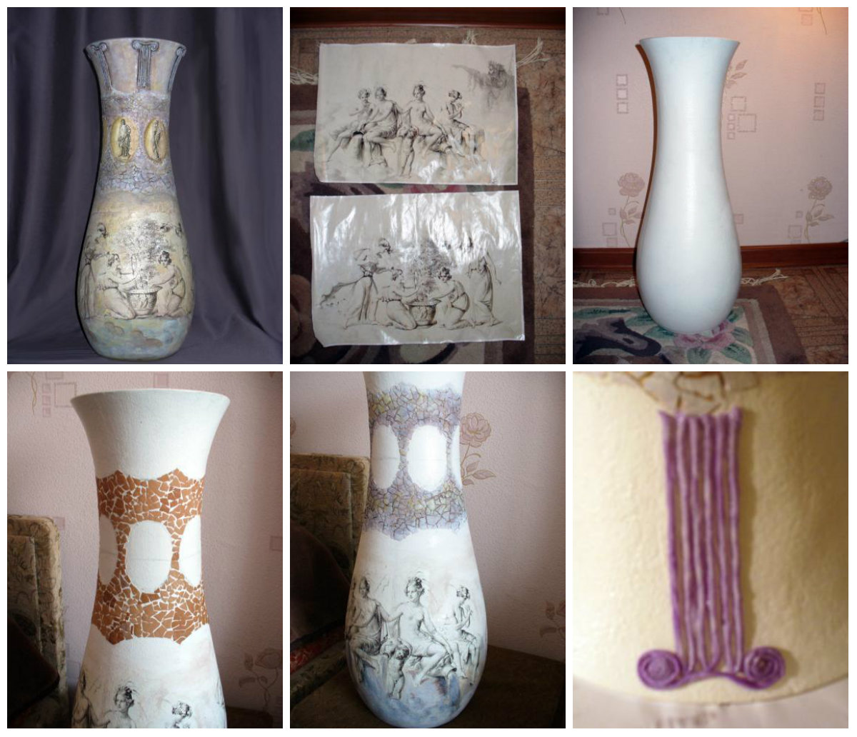 Разукрасить вазу своими руками фото