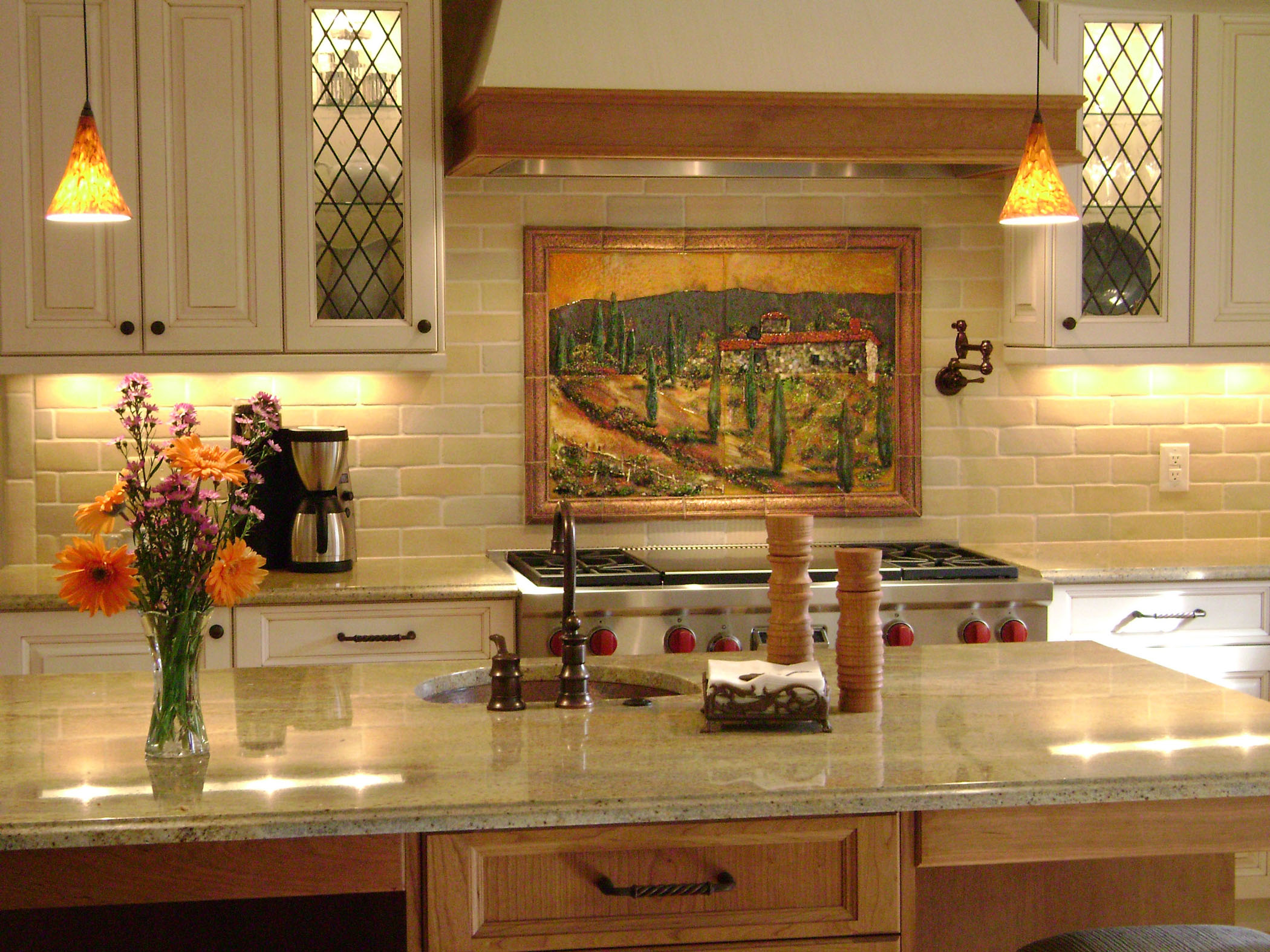 Decorative tile backsplash kitchen