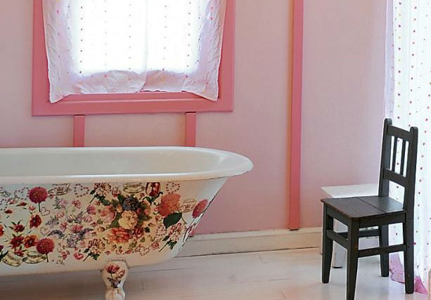 Декупаж фото ванные