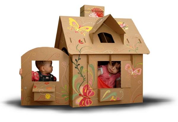 Как сделать домик из коробка своими руками