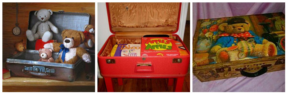 ящик для хранения игрушек из чемодана