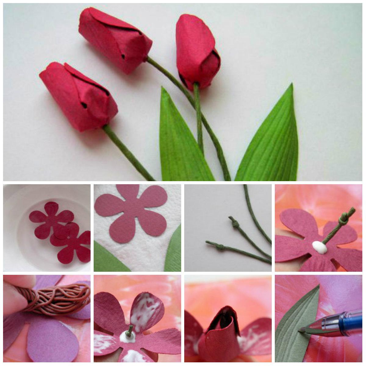 Как сделать из цветы своими руками легкие