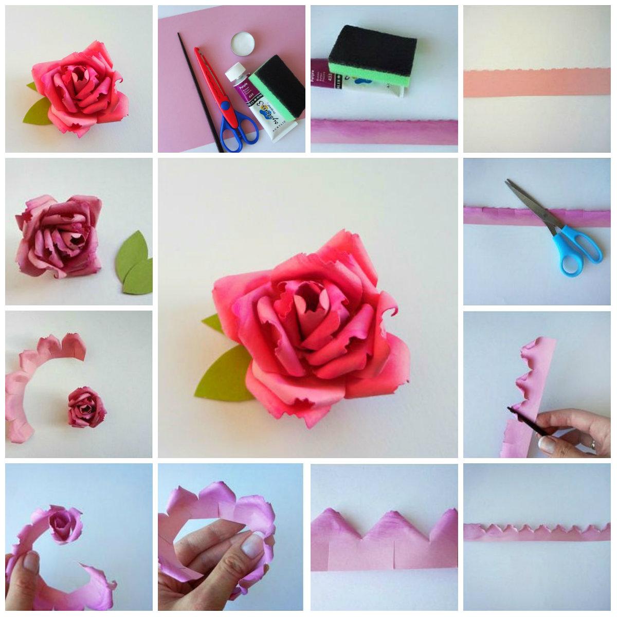 Цветы из своими руками из бумаги для открытки