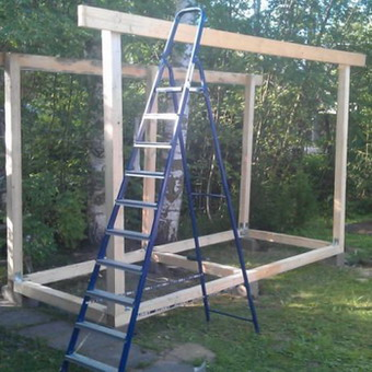Строим дровяник своими руками