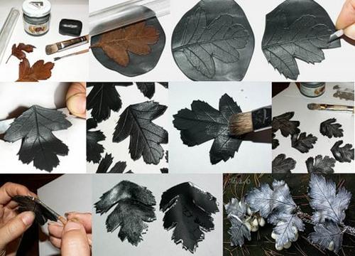 Как сделать листочек из глины