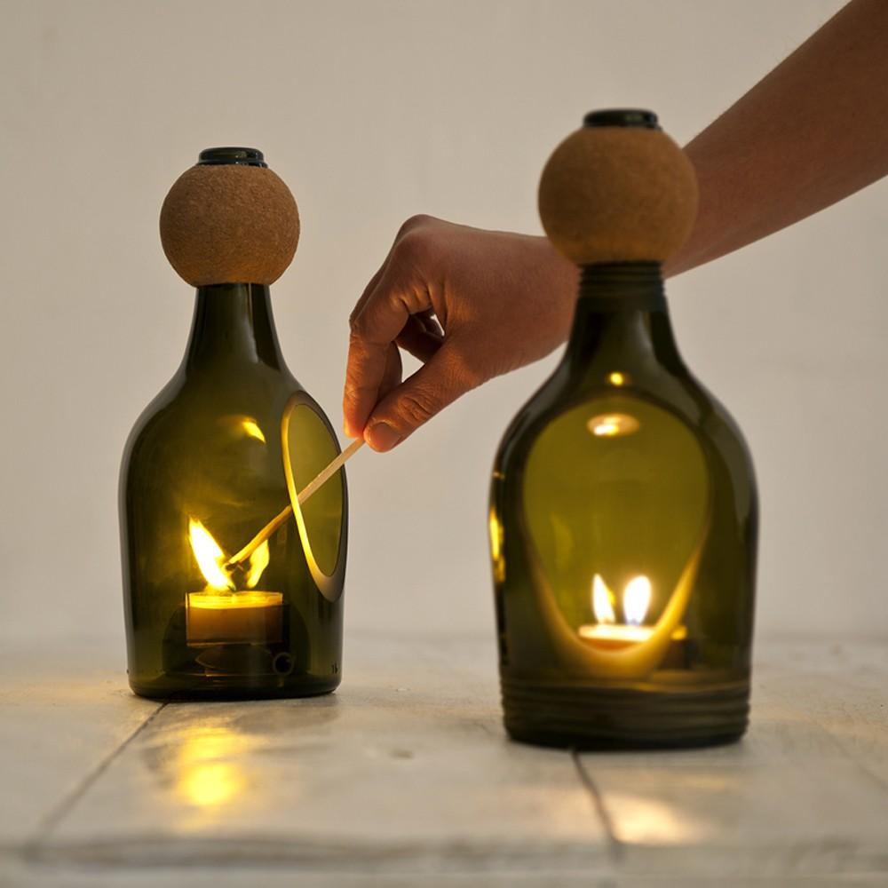 Фонарики из бутылок своими руками