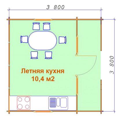 Летняя кухня своими руками чертежи и размеры 19