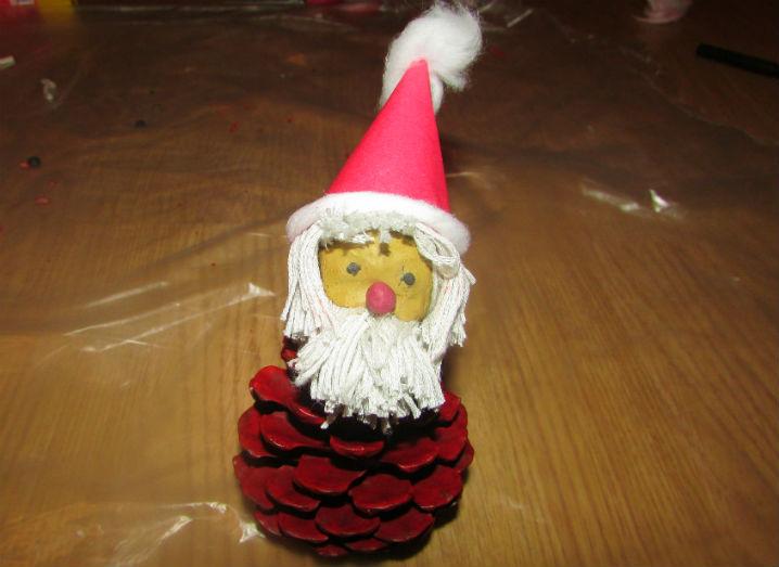 Дед Мороз из шишки