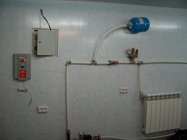 Отопление для гаража своими руками фото