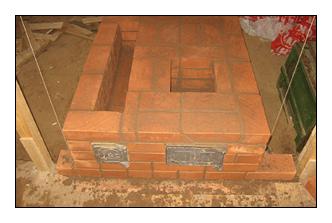 Строительство каменки печи