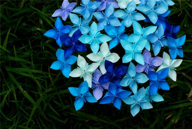 бумажные цветы сделать: