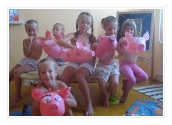 свинки делали дети для дачи