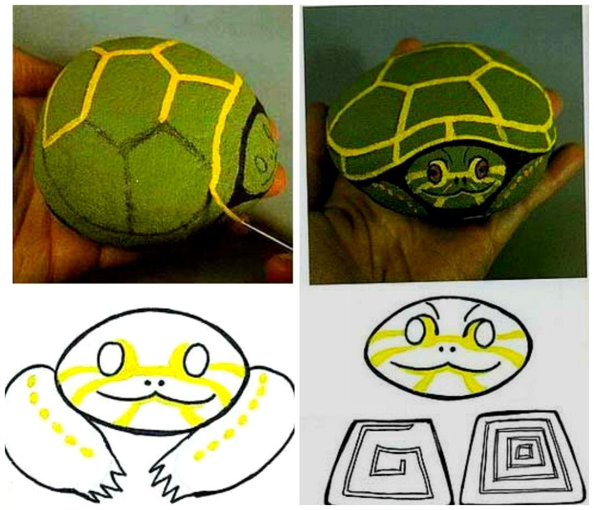 поделки из камней черепаха