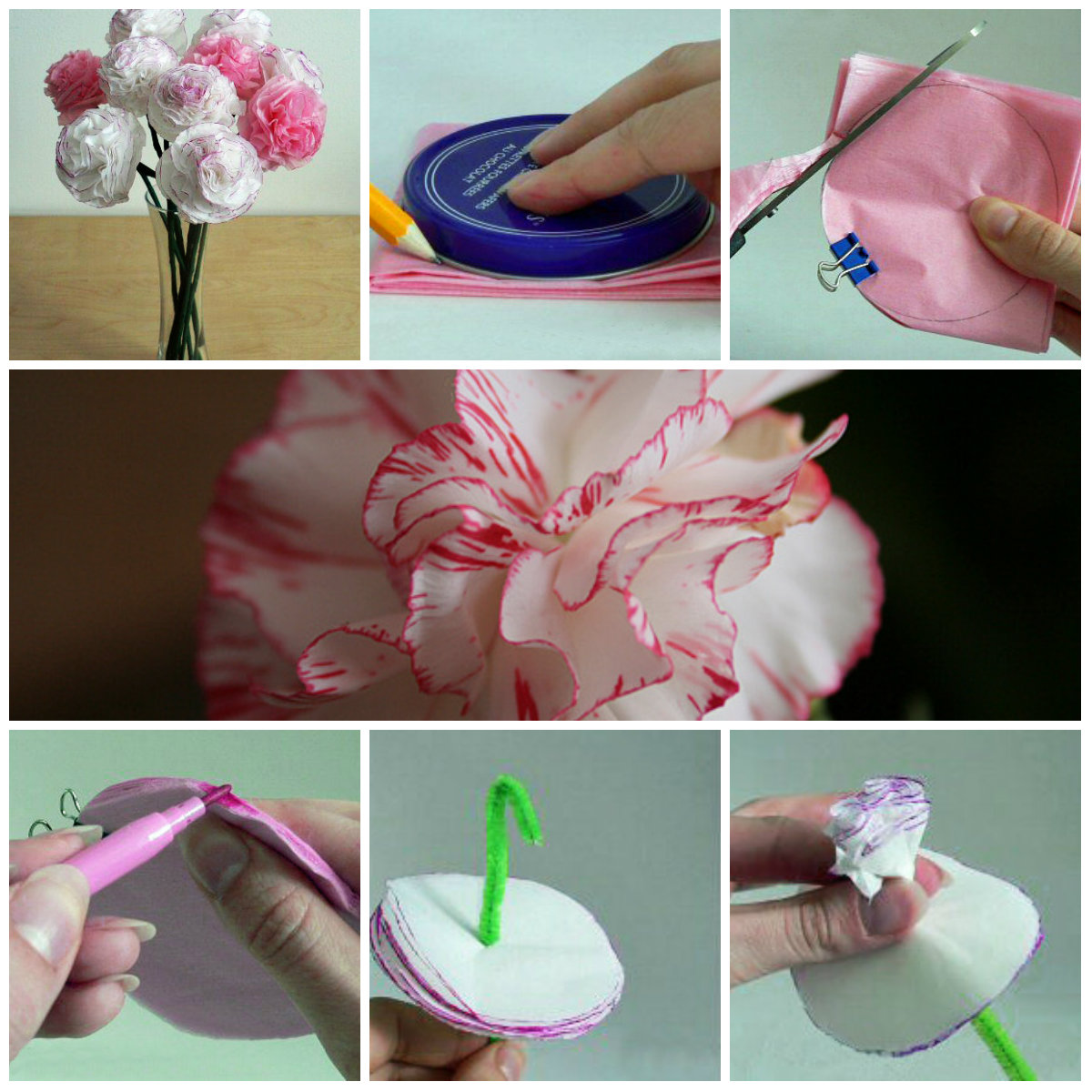 Цветы из бумаги своими руками. Подарок маме на 8 марта 15