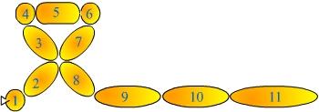 поделки из шаров тигренок 4