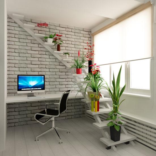 подставка для цветов из лестницы