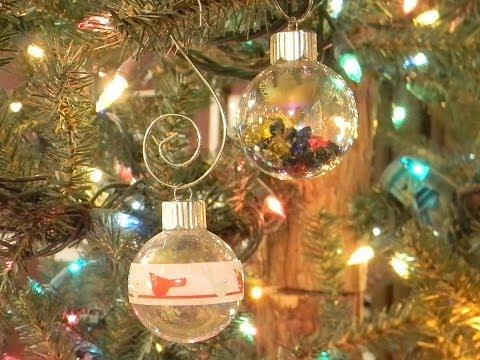 Как украсить шары на елку своими руками