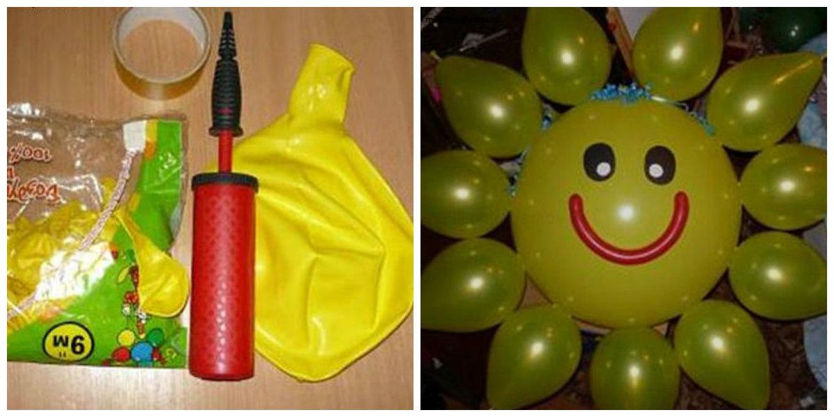 как сделать украшения из шаров своими руками без гелия