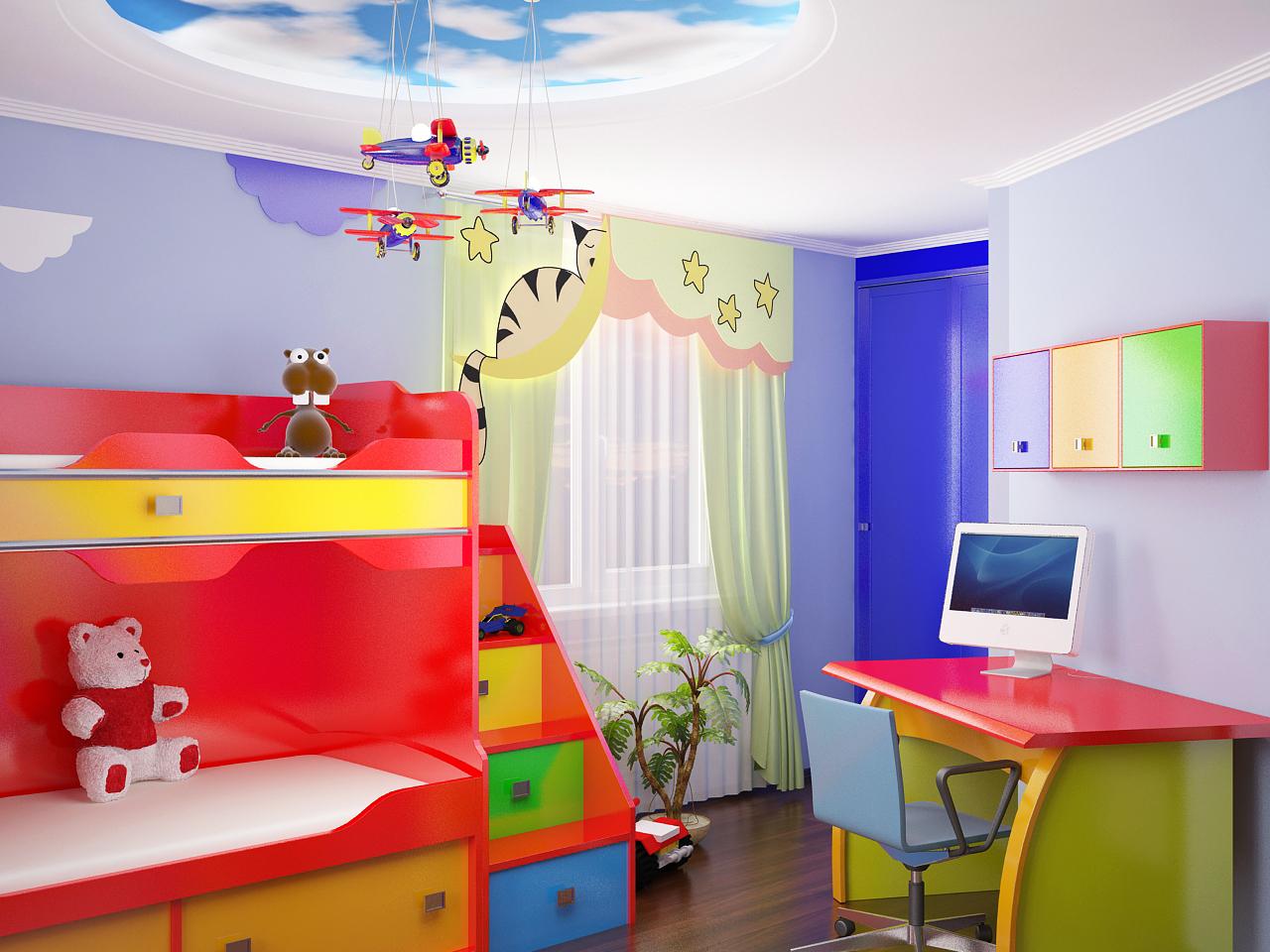 Как украсить детскую комнату мальчику