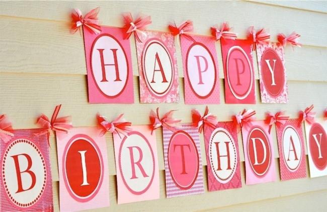 украшение комнаты на день рождения стены