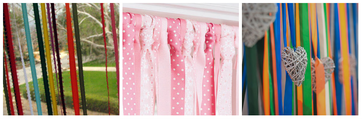 Как сделать шторы лентами 871