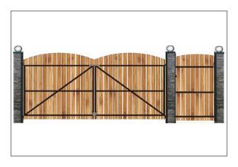 Ворота с калиткой из профнастила своими руками
