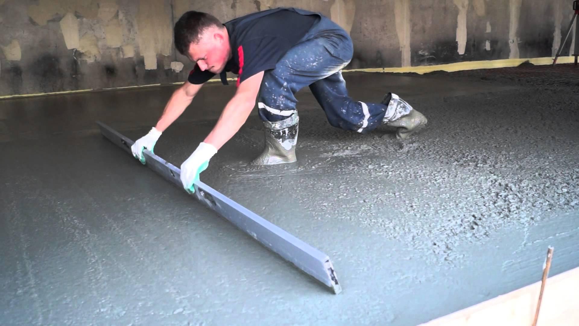 Залить пол в гараже бетоном